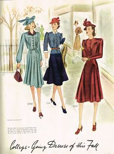 McCall Fashion Book, Autumn 1939 featuring McCall 3339, 3351 and 3350