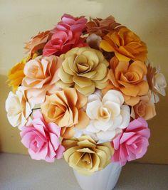 Paper Flower  Wedding Bouquet  Rehearsal by SweetPeasFlorals, $100.00