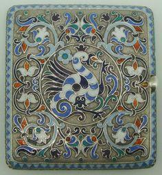 Russian Silver Gilt Cloisonne Enamel Cigarette Case | eBay