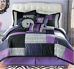 This blue comforter adds some natural accents into the bedroom thanks to its additional zebra pattern. Description from foter.com. I searched for this on bing.com/images