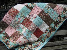 lap quilt - I love simple quilts!