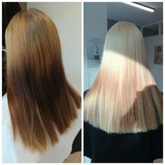 #1.vaalennus #firstlightening #blondhair #blond #goldwell #olaplex