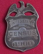 1900 Enumerator Badge