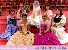 Disney Princess Bridesmaids? I totally would have done this for my wedding!!!!!! ;)