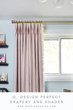 Nursery Curtains Girl, Living Room Windows, Living Spaces, Curtain Trim, Drapery Designs, Teen Bedroom Designs, Drapery Fabric, Baby Room Decor, Window Coverings