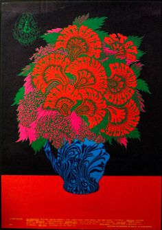 """psychedelic-sixties: """" """"Flower Pot"""" The Family Dog Presents, Blue Cheer/Lee Michaels/Clifton Chenier, October 1967 - Avalon Ballroom (San Francisco, CA) Art Victor Moscoso. Poster Art, Kunst Poster, Dog Poster, Print Poster, Victor Moscoso, Pop Art, Blue Cheer, Psychedelic Music, Psychedelic Posters"""