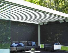 Terrassenüberdachung Renson Camargue®, Lamellendach, modern, abschließbare Terassenüberdachung