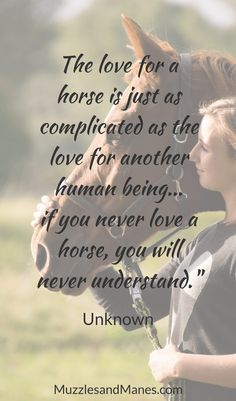 """""""The love for a horse is just as complicated as the love for another human being. if you never love a horse, you will never understand. Cute Horse Quotes, Inspirational Horse Quotes, Horse Riding Quotes, Cute Horses, Animal Quotes, Horse Poems, Equine Quotes, Equestrian Quotes, All The Pretty Horses"""