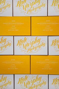Kate Murphy Photography: designed by Jessica Hische