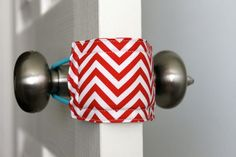 Latchy Catchy  in Rosefields Red Chevron(Patents Pending). $8.00, via Etsy.