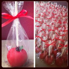 Apple cakepops, wedding favor