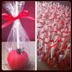 Apple cakepops, wedding favor