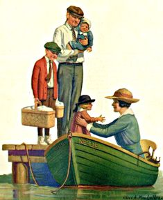 My Puzzles - Vintage Stuff - Family Boating Day 1920