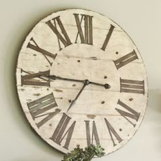 How to fill that big wall over the fireplace?  Lanier Wall Clock | Ballard Designs