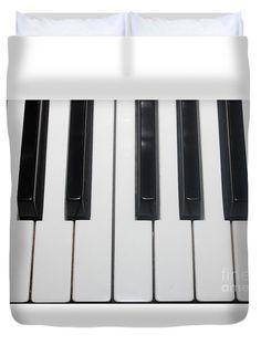 Duvet Cover featuring the photograph Piano Keys by Mesa Teresita