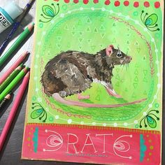 Rat. Adaptability. Resourcefulness. Change. Foresight. Ambition, drive for success, and intelligence. Also fertility. Humbleness. Unassuming. Rat is a wise, wise animal, misunderstood by many. Call on Rat for guidance in adapting to any situation with ease and for clarity in problem-solving. #dailyanimalart #animaltotem #animalmedicine #rat #paintingaday #jessicaswift