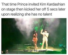 Prince had no chill and it was awesome