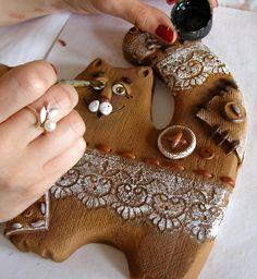 Керамический кот Прянечка - Ярмарка Мастеров - ручная работа, handmade