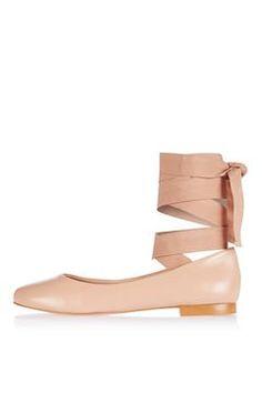 KUTE Ballet Ankle Tie Flats