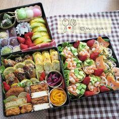 重箱を使ったお弁当の盛りつけテク② 断面を見せて彩り豊かに♡