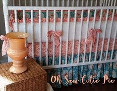 Coral Peach Teal Cream  Vintage Meets Modern by OhSewCutiePie