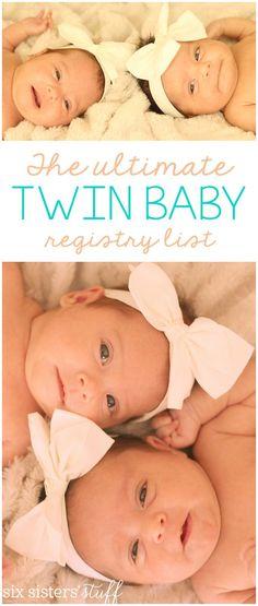 Best Baby Registry, Baby Registry Essentials, Baby Registry Checklist, Baby Registry Must Haves, Baby Registry Items, Twin Baby Girls, Twin Babies, Baby Twins, Baby Baby