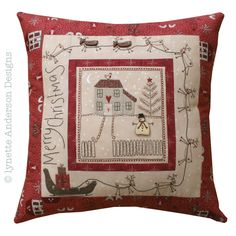 Christmas Eve Cushion Pattern by Lynette Anderson Designs