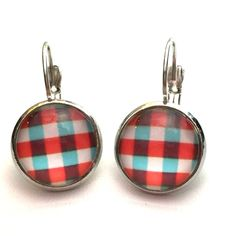 Plaid earrings Plaid earrings Jewelry Earrings
