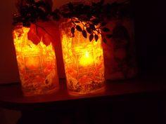 svietniky z fliaš s jesennými motívmi Mason Jar Lamp, Table Lamp, Paper, Home Decor, Table Lamps, Decoration Home, Room Decor, Home Interior Design, Lamp Table