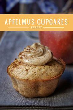 Apfelmus Muffins mit Zimthaube