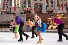 """March 30, 2012: Photo of the Day -in honor of company member and former Finnish Champion and world ice dance competitor, Jessica Huot. It's her Birthday - congrats! She currently studies at NYU for her Masters in Piano Performance. Here she is in """"Let it Snow"""" - photo by world silver medalist Norbert Schramm."""