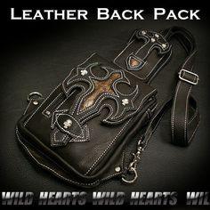Leather Back Pack/Leather Shoulder bag/Cross python/WILD HEARTS