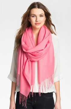 Nordstrom Tissue Weight Wool & Cashmere Wrap available at #Nordstrom [neutral - not pink]