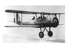 old airplane 03U-3 Observation Bi-Plane