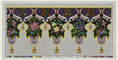 "Drawing, ""Design for a Lambrequin in Wool Work"", ca. 1860"