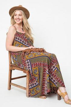 Description - Printed maxi dress - Polyester - Fabric has no stretch - Unlined - Imported Product Measurements Care We recommend hand wash gently in cold water and lay flat to dry or dry clean. Pear Shape Fashion, Plus Size Boutique, Fashion Dresses, Plus Fashion, Women's Fashion, Brazilian Models, Plus Size Dresses, Bohemian Style, Fashion Beauty