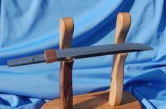 Steel 19 221, hardened to hamon, habaki