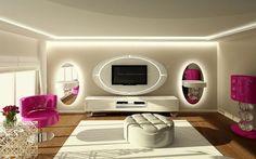 Modern Salon Dekorasyon Modeli