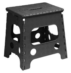 Superior Folding Stool 13 Inch Black: Superior Folding step stool Black Space saving stool folds flat and has a built in handle for easy carrying. It opens with one flip of the hand. Foldable Stool, Best Ladder, Hanging Chair From Ceiling, Wood Steps, Compact Refrigerator, Small Accent Chairs, Solid Wood Table, Folding Stool
