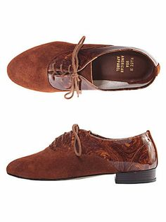 American Apparel - Bobby Suede Lace-Up Shoe - Brown Marble Suede $95.00