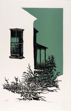 House on the Hill by Frank C. Search the Smithsonian American Art museum collection, one of the world's largest and most inclusive collections of art made in the United States. Sketches Arquitectura, Linocut Prints, Art Prints, Block Prints, 3d Art, Illustration Art, Illustrations, Linoprint, Art Graphique