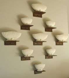 Our 'Wallscape' of Vintage Sylvacvases. £1150.00 for all eleven. Other sizes available!