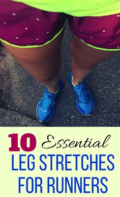 Complete these 10 best lower body stretches for runners after a running workout to stay injury free. These leg stretches are especially important for runners with tight hips or knee pain after a workout. This simple stretching routine targets all the majo Achilles Stretches, Lower Body Stretches, Post Run Stretches, Stretches For Runners, Calf Stretches, Leg Stretching, Hamstring Stretches, Tight Hamstrings, Tight Hips