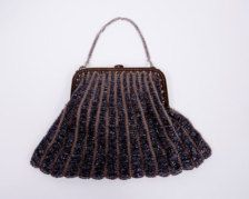 1920's Black Glass Bead Purse-Bags & Purses in Antiques - Etsy Vintage