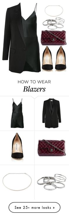 """Sin título #13235"" by vany-alvarado on Polyvore featuring Fleur du Mal, Manolo Blahnik, Yves Saint Laurent, Chanel, Jennifer Zeuner and Kendra Scott"