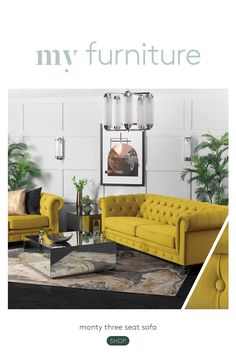 My Living Room, Home And Living, Luxury Interior, Interior Design, Canapé Design, Three Seater Sofa, Sofa Shop, My Furniture, Florida