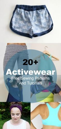 20+ Free Sewing patterns for Athletic Wear: Learn how to make easy Athletic wear, workout outfits for your daily routine. Ready to check this free patterns?