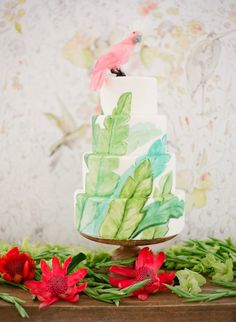 Tropical cake | Cuban Wedding Inspiration and Ideas | Jose Villa | Joel Serrato | The Venue Report | Flowerwild | Grey Likes Weddings