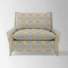 """Bliss Down-Filled Chair-and-a-Half - Prints #westelm $721 46""""w x 39.5""""d x 36.5""""h."""