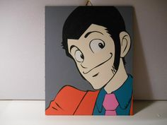 Lupin III  Lupin the third   Canvas 20x25 by grimNglam on Etsy